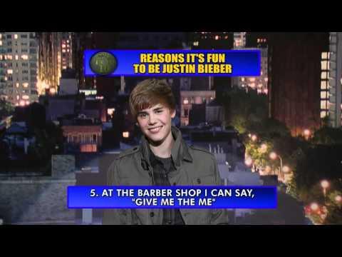 Justin Bieber at David Letterman - Justin Bieber Top Ten