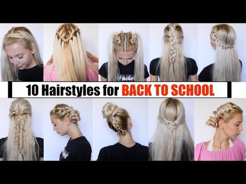 Easy hairstyles - 10 CUTE & EASY BACK TO SCHOOL HAIRSTYLES 2018