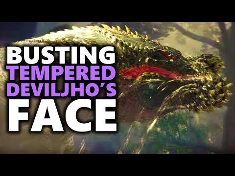 BUSTING TEMPERED DEVILJHO'S FACE! - Monster Hunter World
