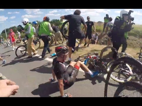 tour de france 2015 stage 3 crash oge mechanic cam