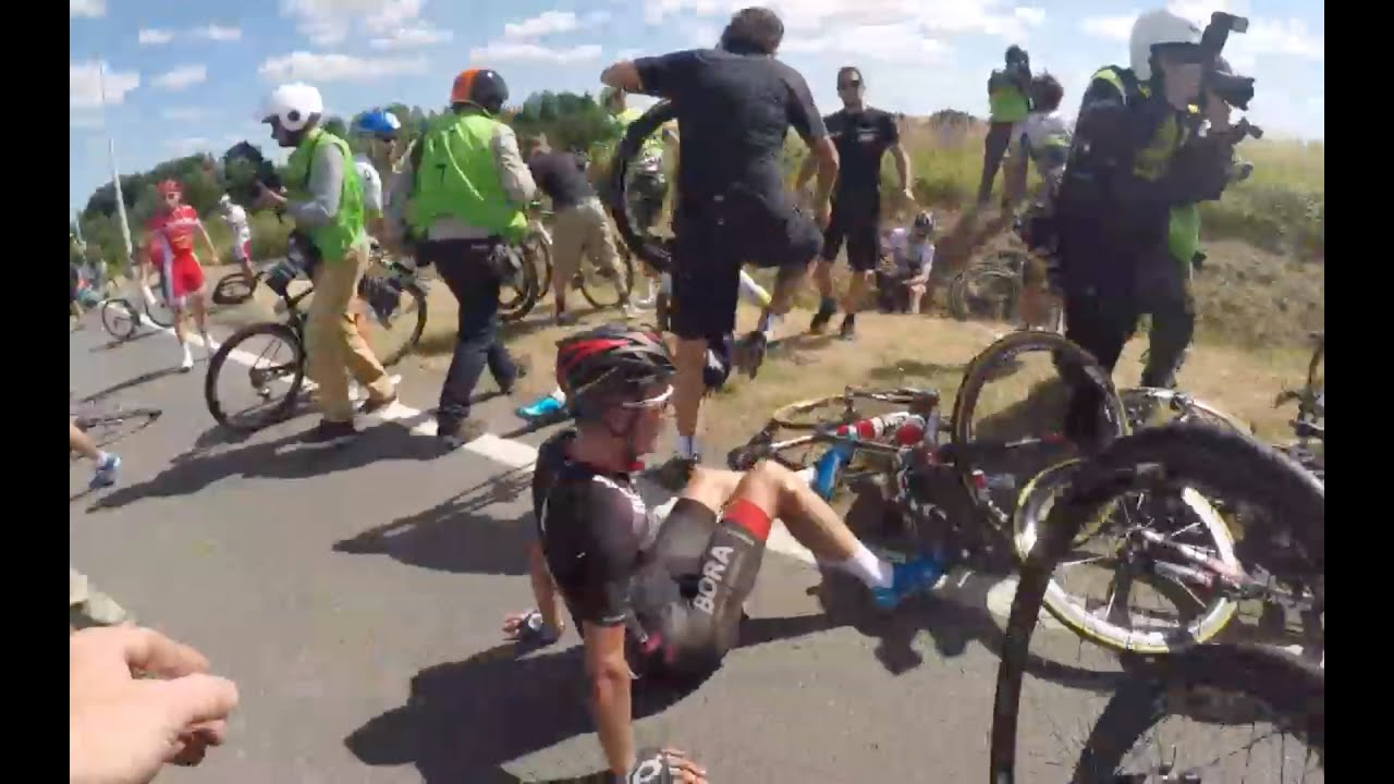 Tour de France 2015 Stage 3 crash – OGE Mechanic Cam