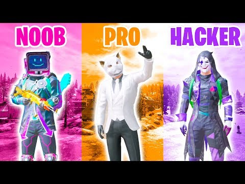 NOOB vs PRO vs HACKER in PUBG MOBILE