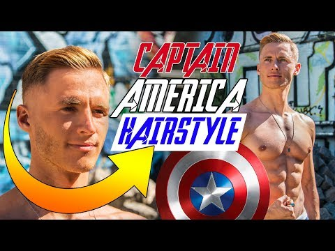 Mens hairstyles - CAPTAIN AMERICA Inspired Hairstyle  Best Avengers Haircut 2018