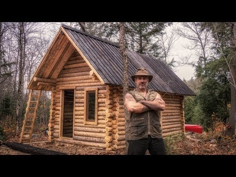Man builds off grid log cabin alone in the Canadian wilderness (long, but fascinating)