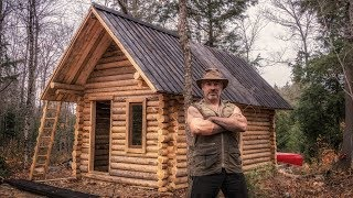 Nonton Man Builds Off Grid Log Cabin Alone In The Canadian Wilderness Film Subtitle Indonesia Streaming Movie Download