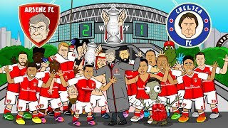 🏆Arsenal win the FA Cup🏆 (Arsenal vs Chelsea 2-1 FA Cup Final Parody Song Goals & Highlights) Video