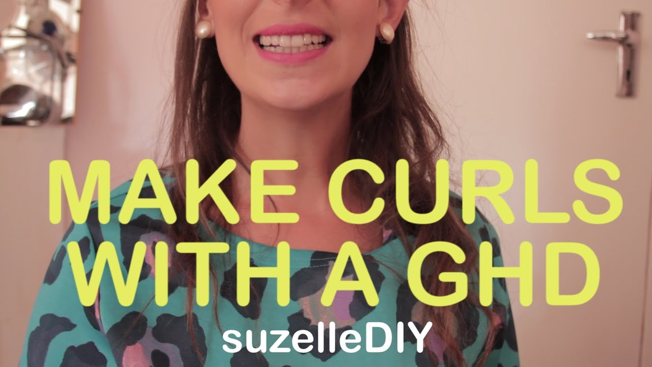How to make Curls with a GHD-graphic