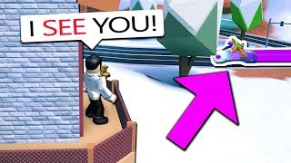 I CHEATED IN JAILBREAK HIDE N SEEK!! *HE CAUGHT ME* (Roblox)