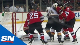 Devils' Mueller Makes Great Heads-up Play to Save A Goal by Sportsnet Canada