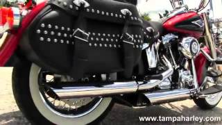 9. Used 2011 Harley Davidson FLSTC Heritage Softail For Sale Price Specs.mp4