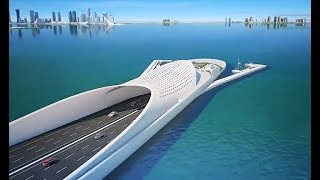Video The Doha Sharq Crossing :  Qatar Extraordinary Mega Project - Most Beautiful Bridge In Middle East MP3, 3GP, MP4, WEBM, AVI, FLV Oktober 2018