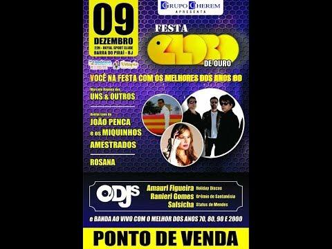 Bons momentos, viagem no tempo Festa Globo de Ouro em Barra do Piraí