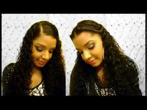 How To : 2 Easy Cute Quick Curly Hairstyles Tutorial : Natural Hairstyle : Twist – Side Hair Style :