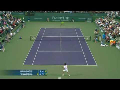 Stanislas Wawrinka vs. Marcos Baghdatis Indian Wells 2008