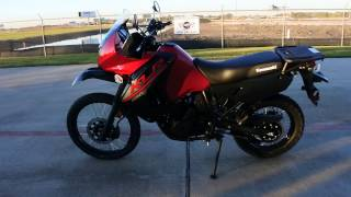 7. $6,699: 2017 Kawasaki KLR 650 Candy Persimmon Red Overview and Review