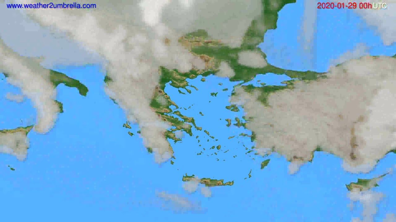 Cloud forecast Greece // modelrun: 00h UTC 2020-01-28