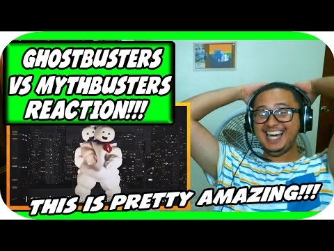Ghostbusters vs Mythbusters. Epic Rap Battles of History Season 4. REACTION!!!