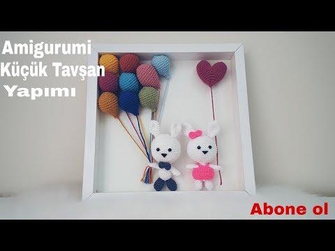 Amigurumi / küçük tavşanlı pano yapımı