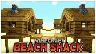 Minecraft: How To Build A Small Beach Shack  (Easy survival Shack ) (Survival Tutorial) 2016