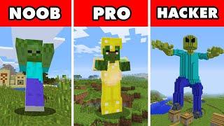 Noob vs. Pro vs. Hacker : MUTANT GIANT ZOMBIE APOCALYPSE CHALLENGE! In Minecraft Animation