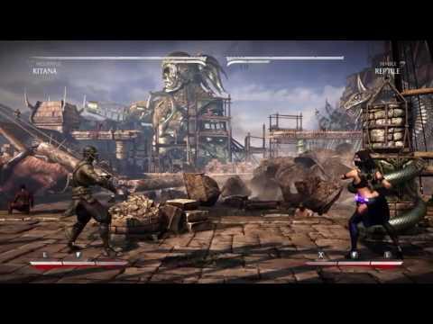Mortal Kombat X: Kitana Mournful Combos (видео)