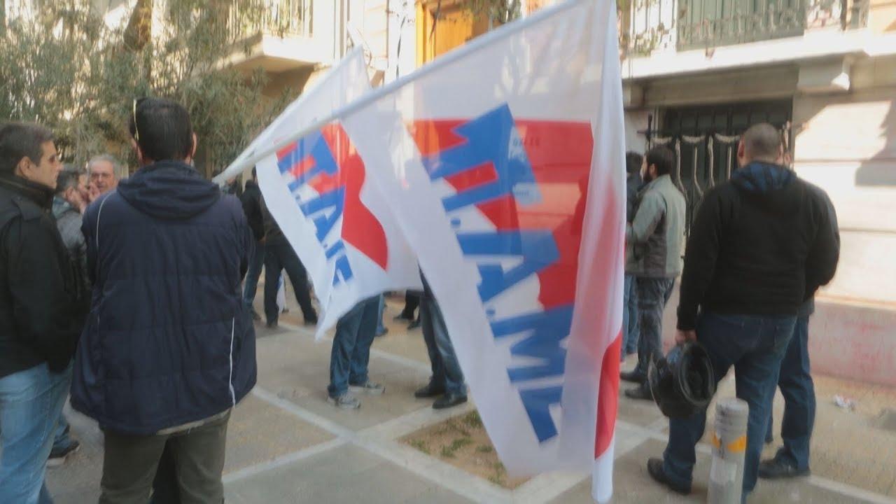 Κατάληψη του ΠΑΜΕ στα γραφεία της ΓΣΕΕ στην Αθήνα