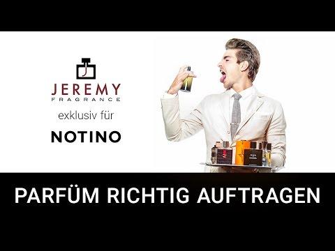 Parfüm richtig auftragen mit JEREMY exklusiv für Notino