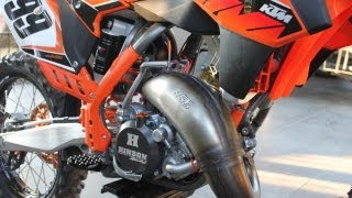 8. 2014 KTM 150SX 2 Stroke Start up walk around
