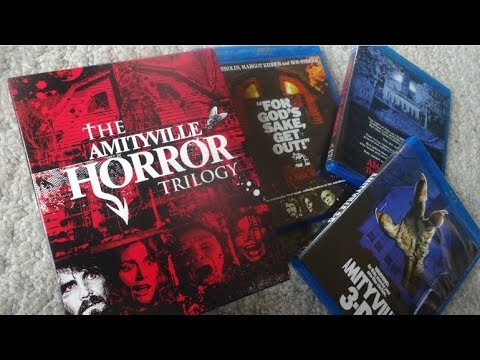 Scream Factory THE AMITYVILLE HORROR TRILOGY Blu-Ray Set UNBOXING
