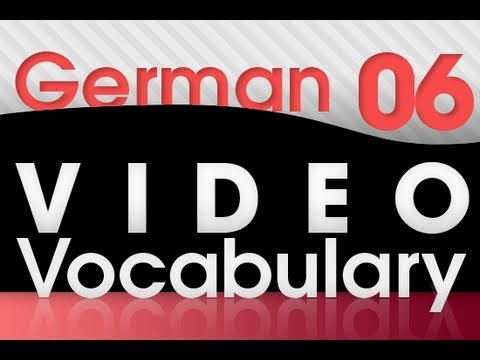 Learn German – Video Vocabulary #6