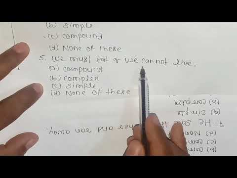 Simple, compound and complex sentence exercise with tricks