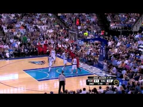 Game 2: Miller to Batum to Aldridge for a dunk