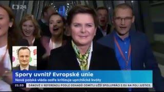 Nová polská vláda odmítá kvóty