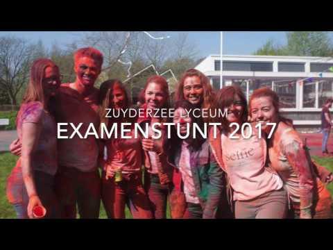 Examenstunt Zuyderzee Lyceum 2017 // Verfpoederfeest