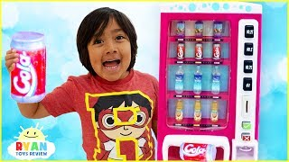 Video Ryan Pretend Play with Vending Machine Soda Kids Toys!!! MP3, 3GP, MP4, WEBM, AVI, FLV Juni 2019