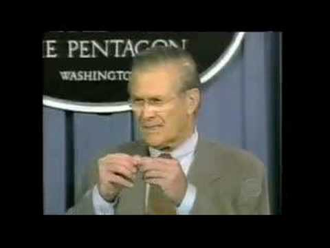 Funny Rumsfeld Skit