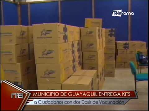 Municipio de Guayaquil entrega kits a ciudadanos con dos dosis de vacunación