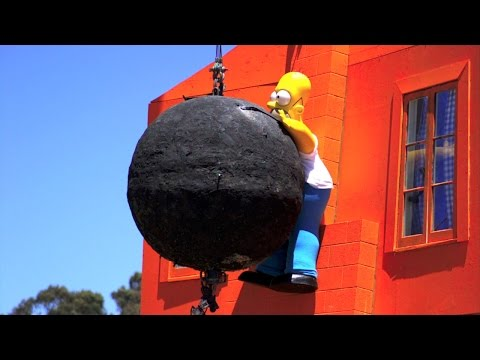Homer Wrecking Ball High-Speed | MythBusters