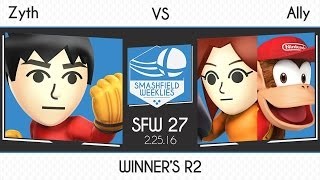 Ally Sleeps on Mii Fighter and loses a tournament set for it.