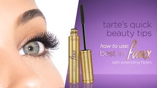 tarte's quick beauty tips: best in faux