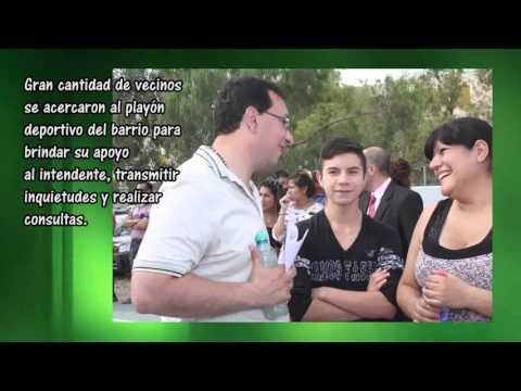 Adrián Maderna en el B° Constitución