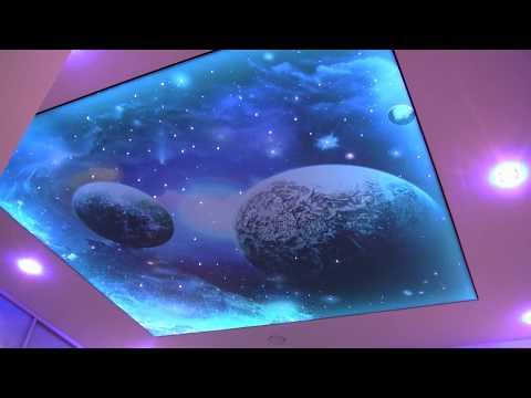 sufit z podświetleniem gwiezdne niebo