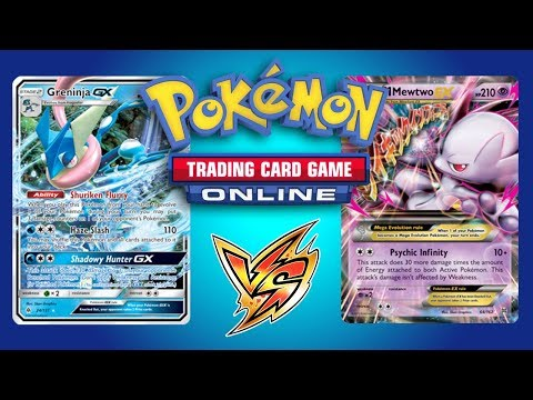 Greninja GX vs Mega Mewtwo EX and Zoroark GX / Lycanroc GX - Pokemon TCG Online Game Play (видео)