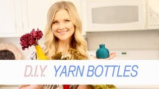 DIY Yarn Bottles!! - YouTube