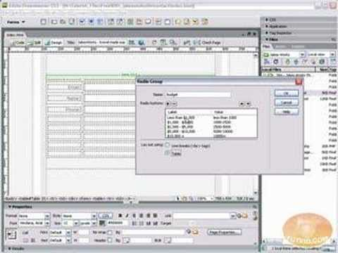 indreamweaver - Check this video out at Hi-Res here: http://www.tutvid.com/tutorials/dreamweaver/tutorials/setupAForm.php In the following video we will build a web based fo...