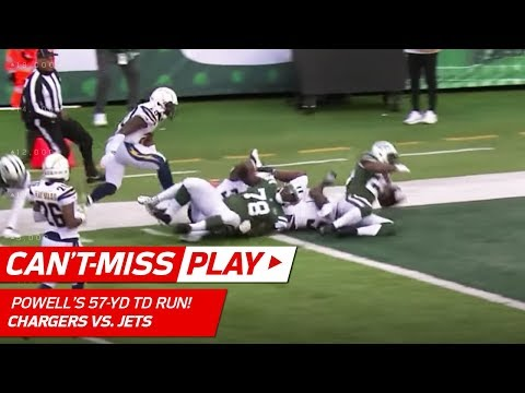 Video: Bilal Powell Breaks Off Powerful 57-Yd TD Run vs. LA! | Can't-Miss Play | NFL Wk 16 Highlights