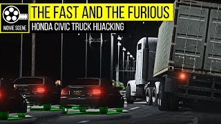 Nonton Grand Theft Auto 5 -  The Fast and the Furious Honda Civic Truck Hijacking Film Subtitle Indonesia Streaming Movie Download