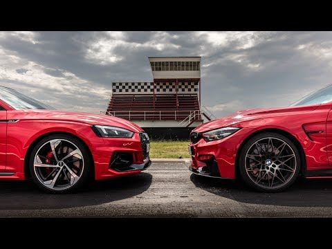Audi RS5 Vs BMW M4  Drag Race!