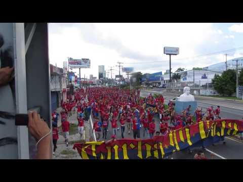 Turba Roja - Caminata FAS vs Alianza 03-11-2013 - Turba Roja - Deportivo FAS