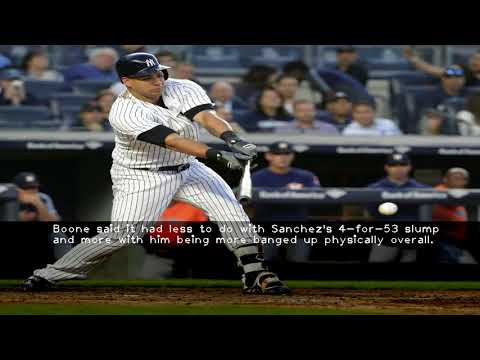 Slumping Gary Sanchez is 'a little banged up ' sits for Yankees Tuesday vs. Nationals